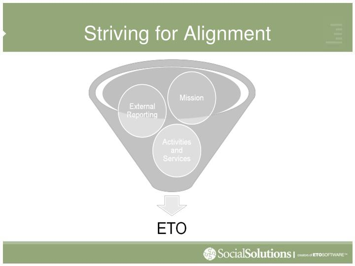 Striving for Alignment