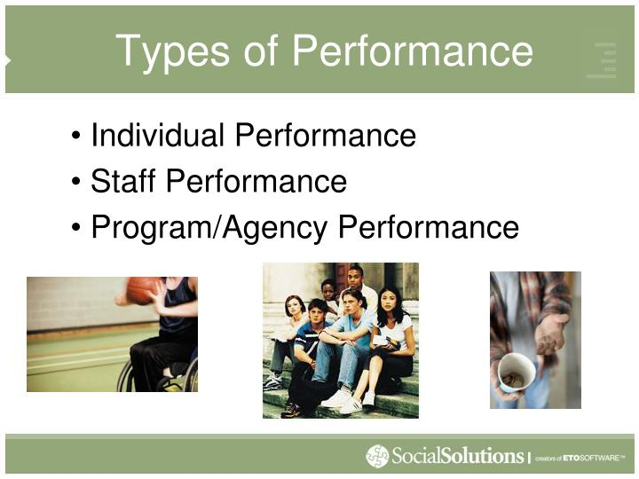 Types of performance