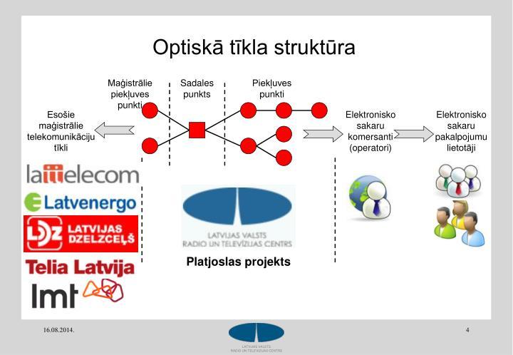 Optiskā tīkla struktūra