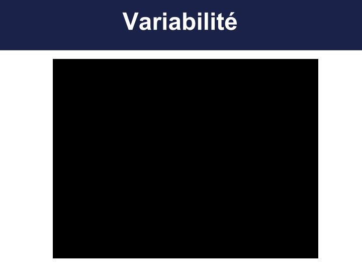 Variabilité