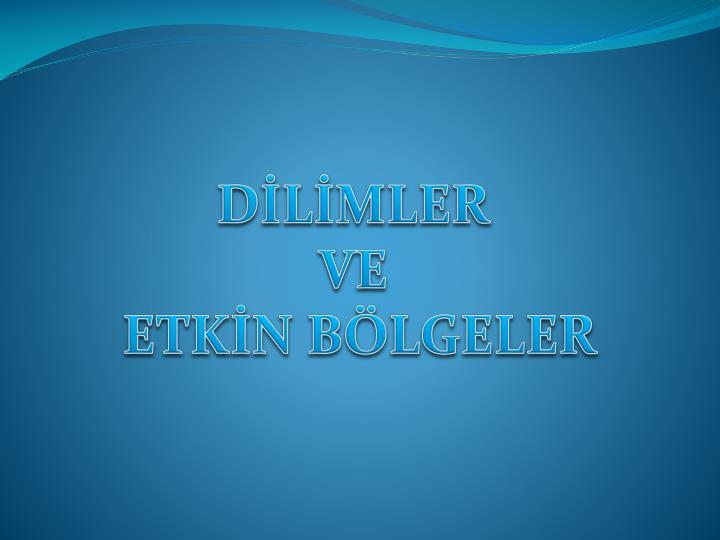 DİLİMLER