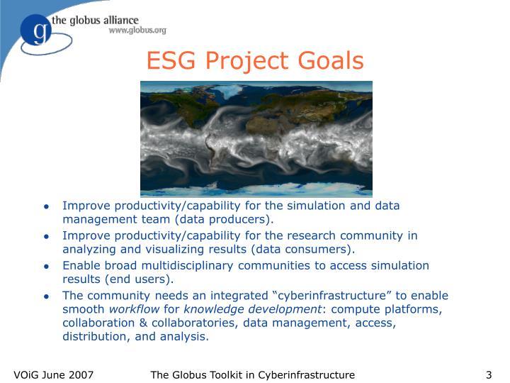 ESG Project Goals