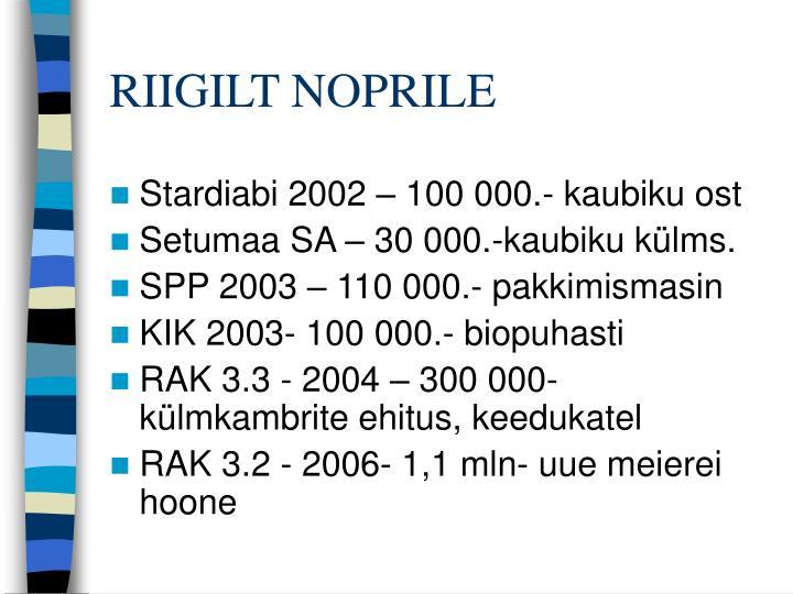 RIIGILT NOPRILE