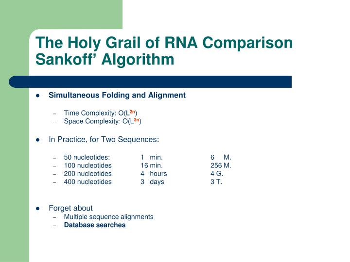 The Holy Grail of RNA Comparison
