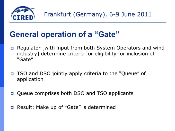 "General operation of a ""Gate"""
