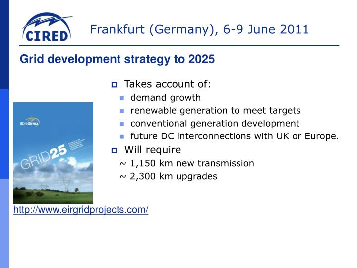 Grid development strategy to 2025
