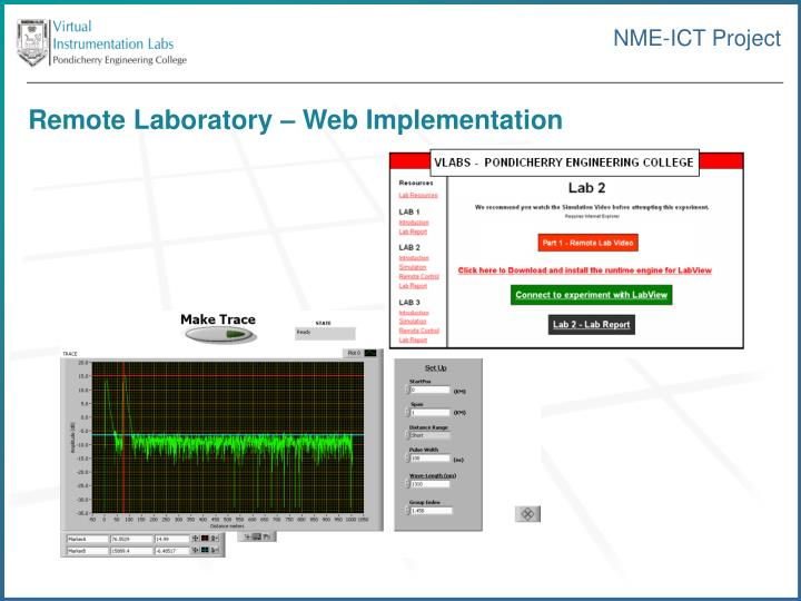 Remote Laboratory – Web Implementation
