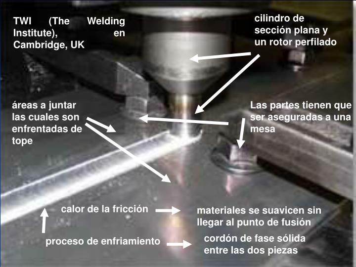 cilindro de sección plana y un rotor perfilado