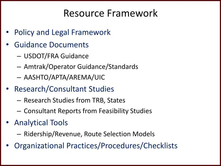 Resource Framework