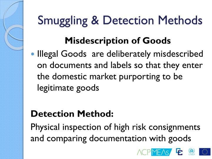 Smuggling & Detection Methods