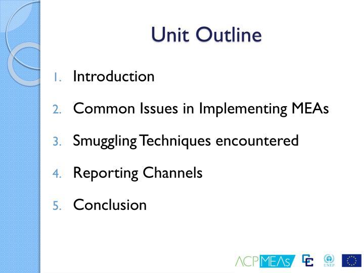 Unit Outline
