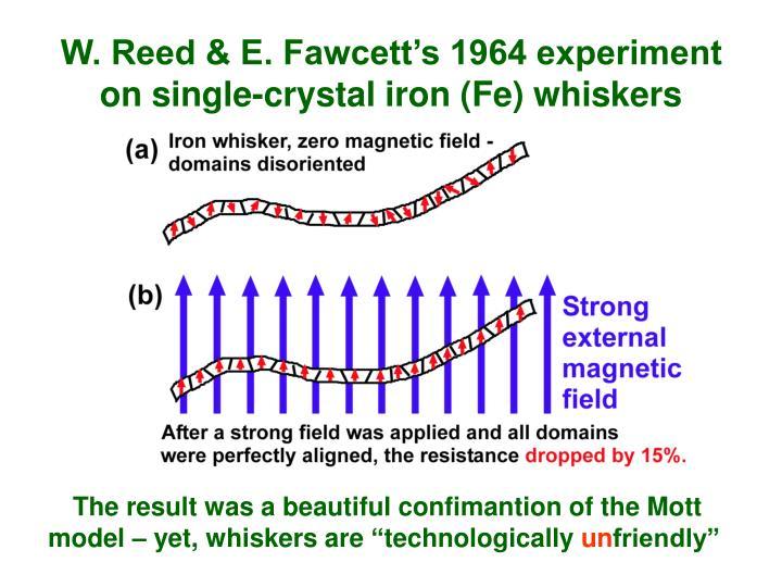 W. Reed & E. Fawcett's 1964 experiment