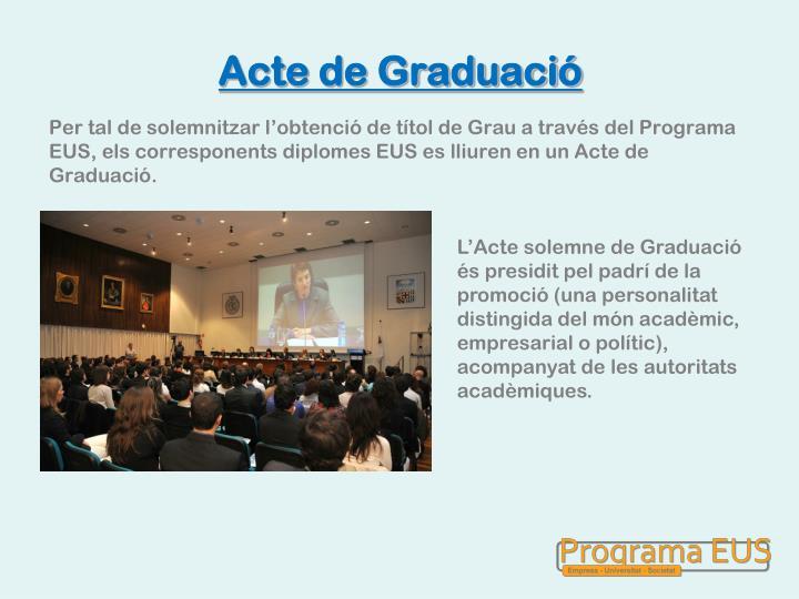 Acte de Graduació