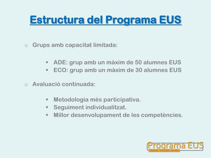 Estructura del Programa EUS