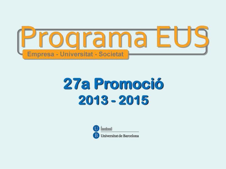 27a Promoció