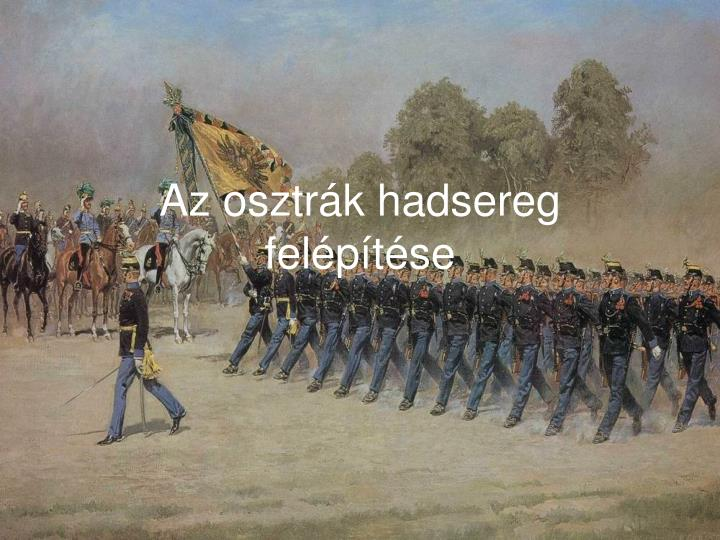 Az osztrák hadsereg felépítése