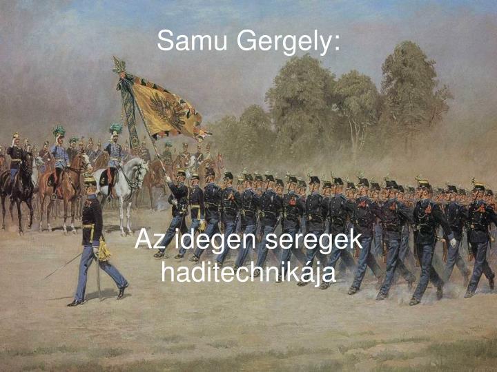 Samu Gergely: