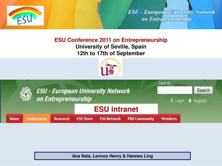 ESU Conference 2011 on Entrepreneurship