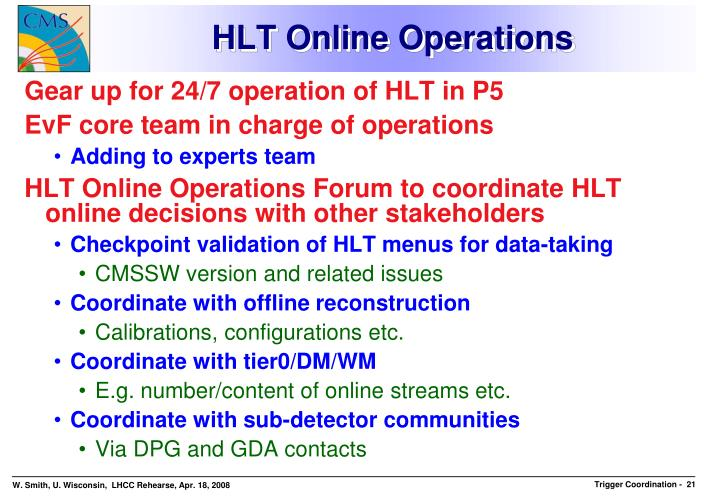 HLT Online Operations