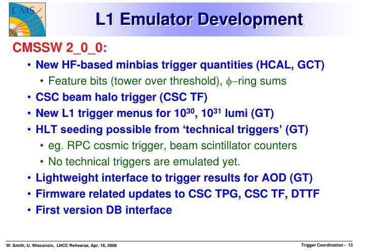 L1 Emulator Development