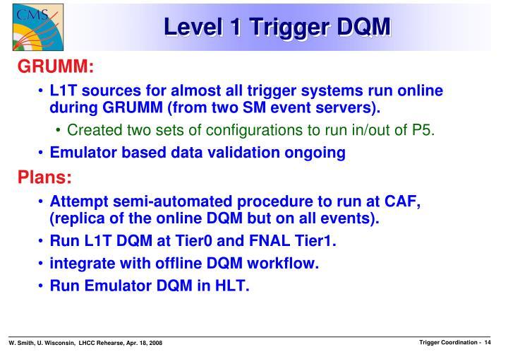 Level 1 Trigger DQM