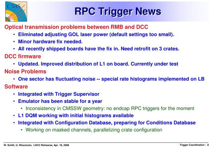 RPC Trigger News