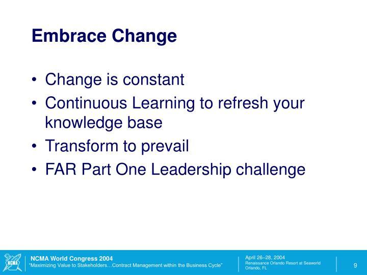 Embrace Change