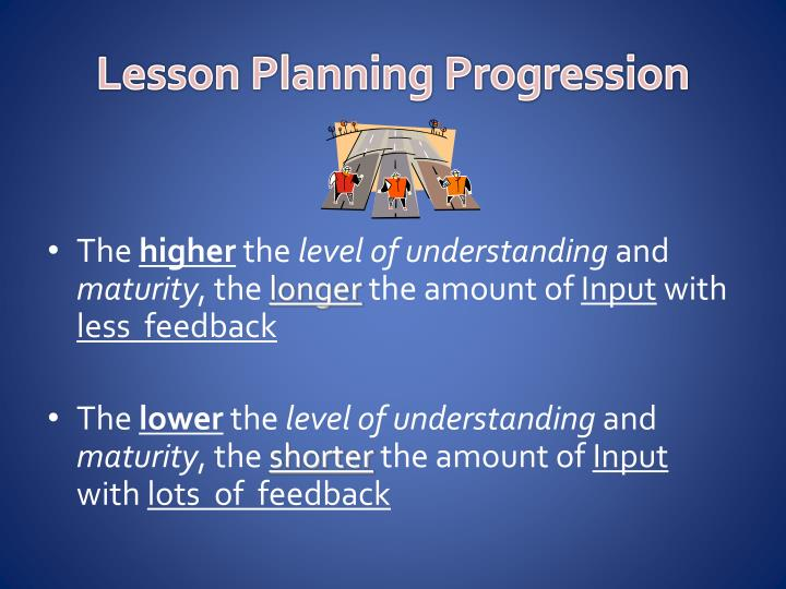 Lesson Planning Progression