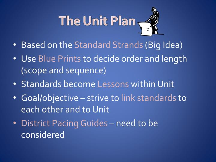 The Unit Plan