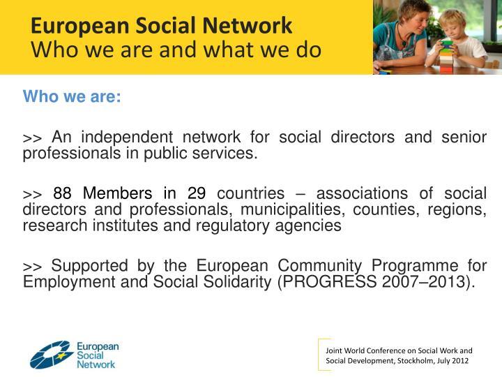 European Social Network