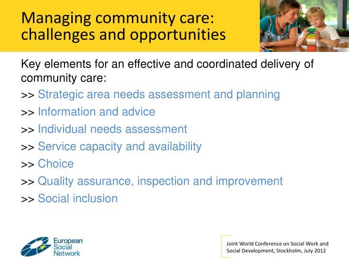 Managing community care: