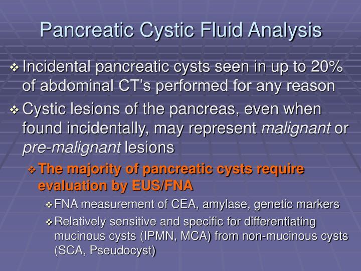 Pancreatic Cystic Fluid Analysis