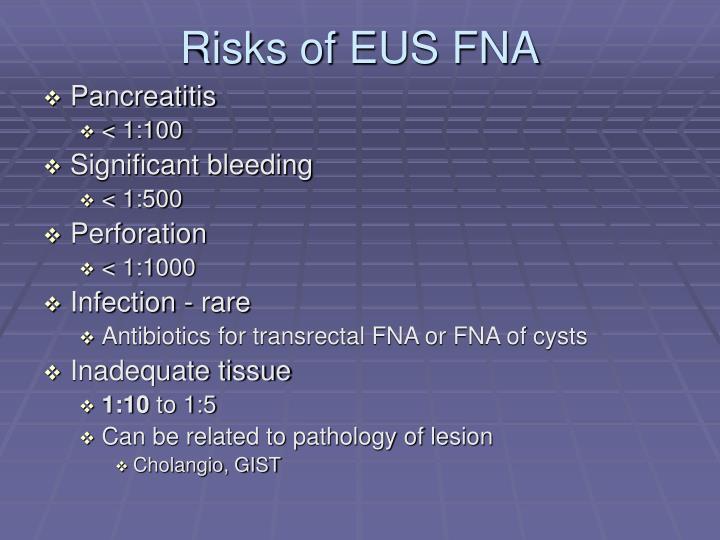 Risks of EUS FNA