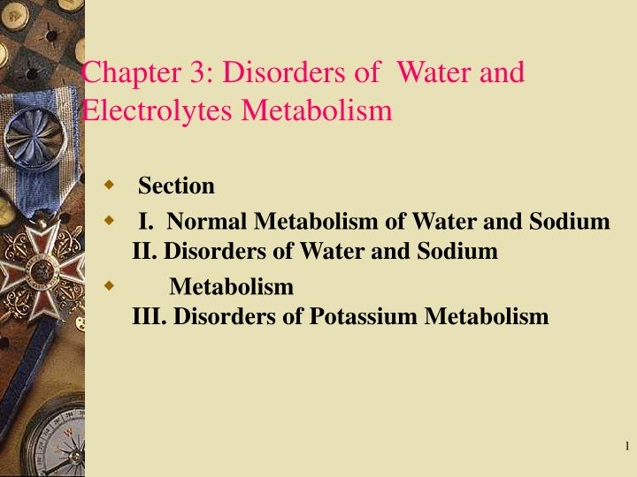 Chapter 3 disorders of water and electrolytes metabolism