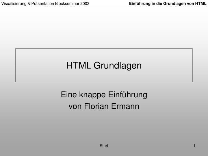 HTML Grundlagen