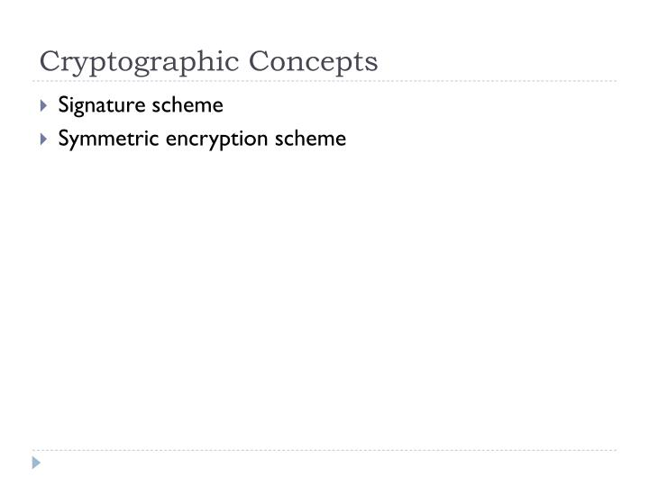 Cryptographic Concepts