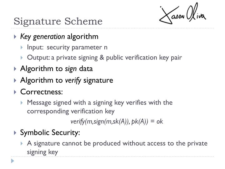 Signature Scheme