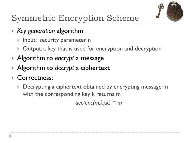 Symmetric Encryption Scheme