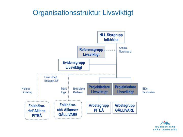 Organisationsstruktur Livsviktigt