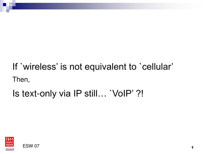 If `wireless' is not equivalent to `cellular'