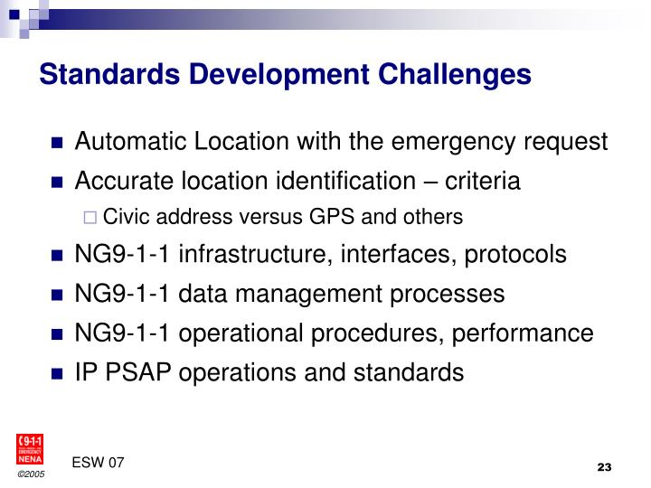 Standards Development Challenges