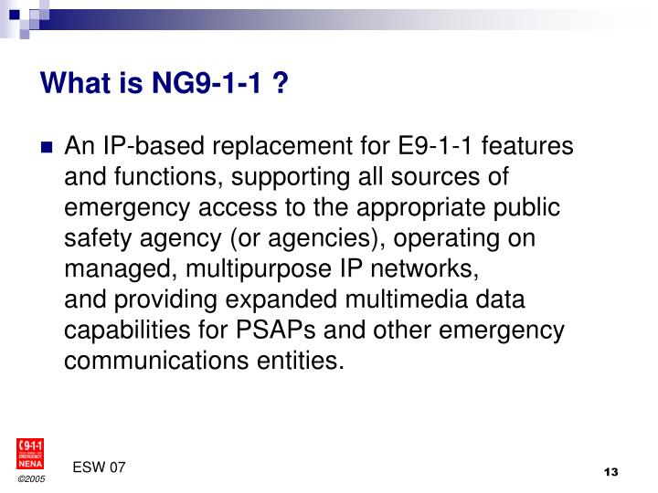 What is NG9-1-1 ?