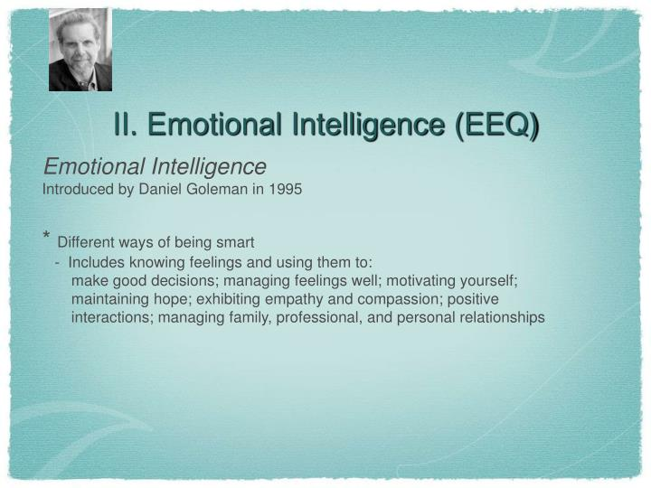 II. Emotional Intelligence (EEQ)