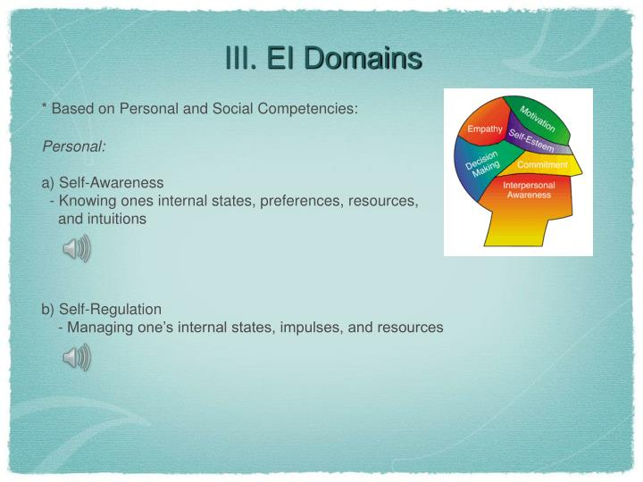 III. EI Domains