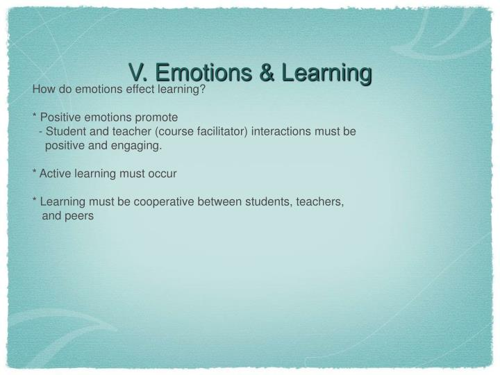 V. Emotions & Learning