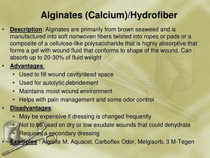 Alginates (Calcium)/Hydrofiber