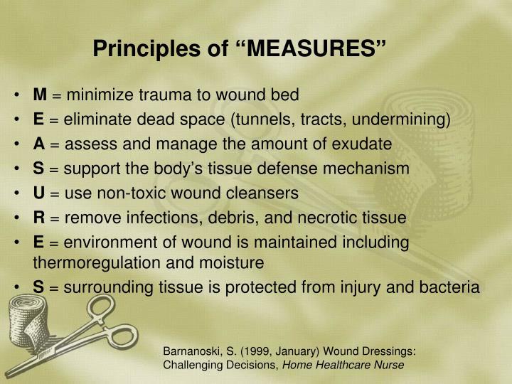 "Principles of ""MEASURES"""