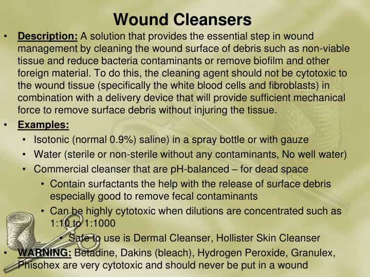 Wound Cleansers