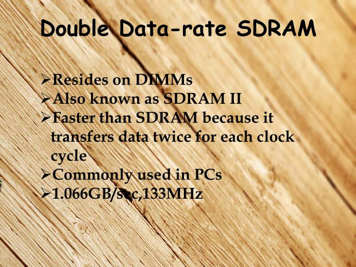Double Data-rate SDRAM