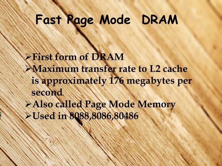 Fast Page Mode  DRAM